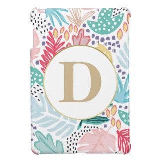 Colourful Tropical Shapes Pattern iPad Case