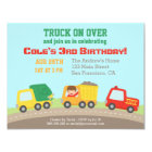 Colourful Truck Boys Birthday Party Invitations