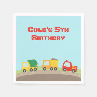 Colourful Truck Boys Birthday Party Supplies Disposable Napkin