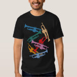 Colourful Trumpets T-shirts