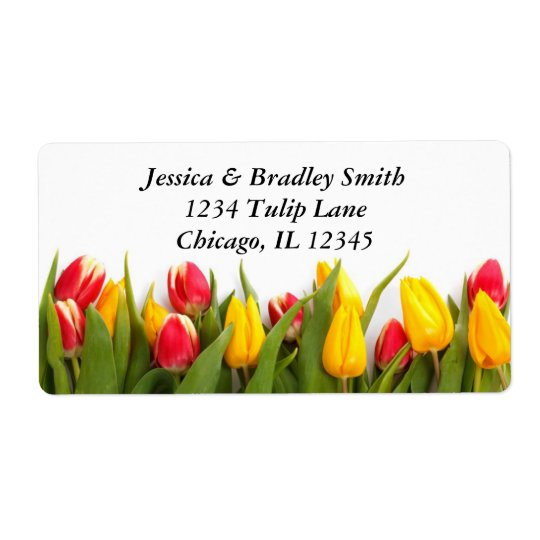 Colourful Tulips Address Label