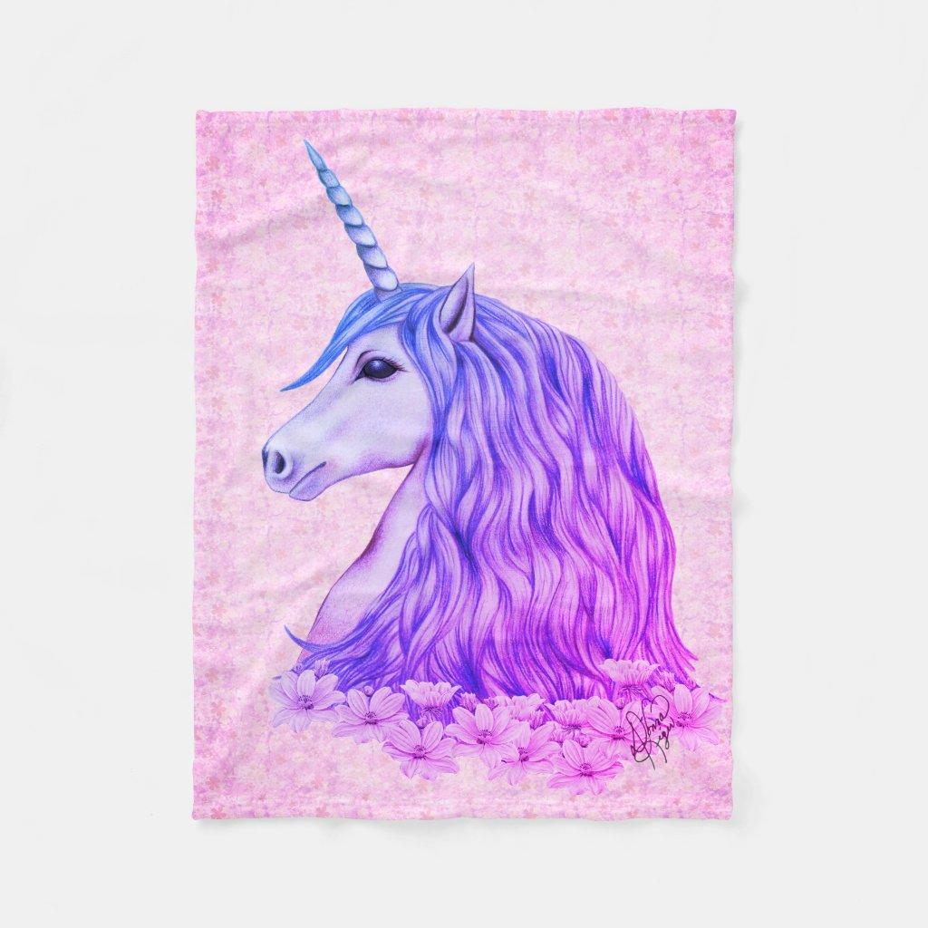 Colourful Unicorn Blanket
