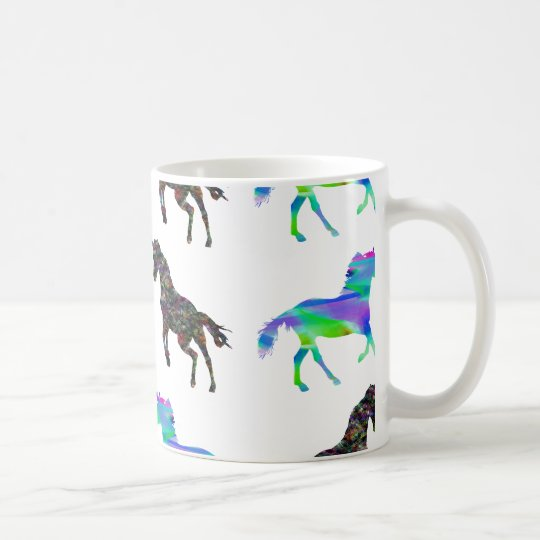 Colourful unicorns coffee mug