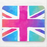 Colourful Union Jack Flag Mouse Pad