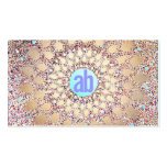 Colourful, Unique and Festive Monogram Glitter Pack Of Standard Business Cards