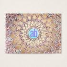 Colourful, Unique and Festive Monogram Glitter Business Card
