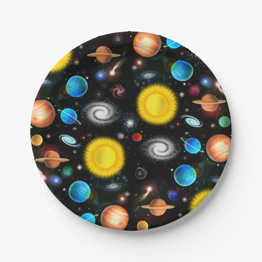 Colourful Universe Astronomy Space Paper Plates