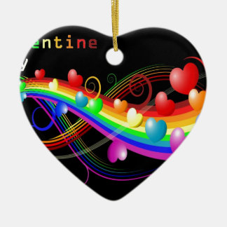 colourful valentine christmas tree ornament