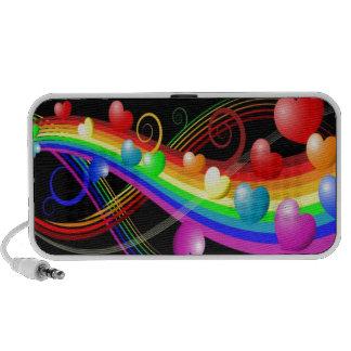 colourful valentine speaker system