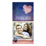 Colourful Valentine's / Love card photo template Photo Card Template