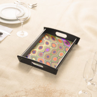 Colourful vertigo serving tray