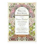 Colourful Vintage Bridal Shower Invitations 13 Cm X 18 Cm Invitation Card