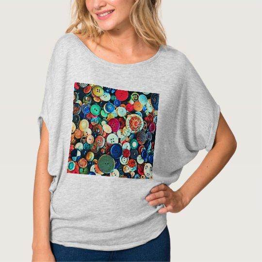 Colourful Vintage Buttons T-Shirt