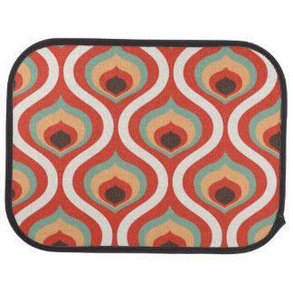 Colourful vintage droplets floor mat