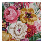 Colourful Vintage Girly Roses Painting Floral Poster