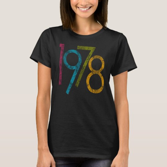 Colourful Vintage Graphic 1978 40th Birthday T-Shirt