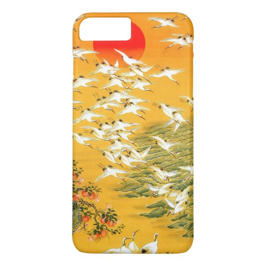 Colourful Vintage Japanese Cranes at Sunset Case-Mate iPhone
