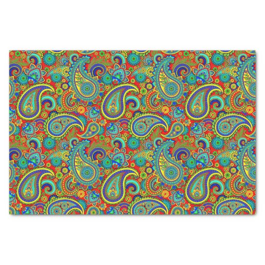 Colourful Vintage Orante Paisley Tissue Paper
