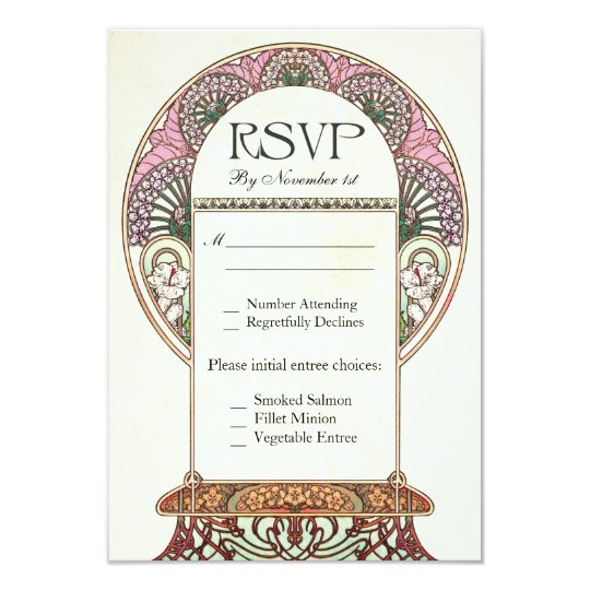 Colourful Vintage RSVP Wedding Cards I