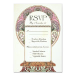 Colourful Vintage RSVP Wedding Cards I 9 Cm X 13 Cm Invitation Card