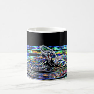 Colourful water drop splash mug