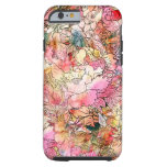 Colourful Watercolor Floral Pattern Abstract