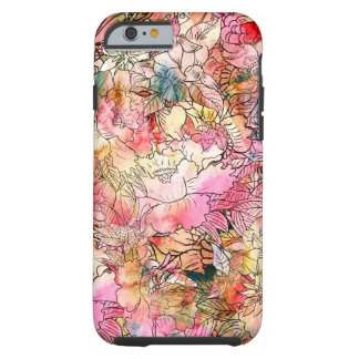 Colourful Watercolor Floral Pattern Abstract Tough iPhone 6 Case