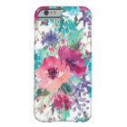 Colourful Watercolor Floral Pattern Barely There iPhone 6 Case