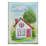 Colourful Watercolor House