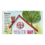 Colourful Watercolor House Pack Of Standard Business Cards