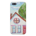 Colourful Watercolor House Case For iPhone 5/5S