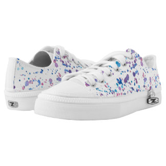 Colourful Watercolor Splotch Pattern Shoes Printed Shoes