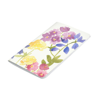 Colourful Watercolour Flowers Pocket Journal