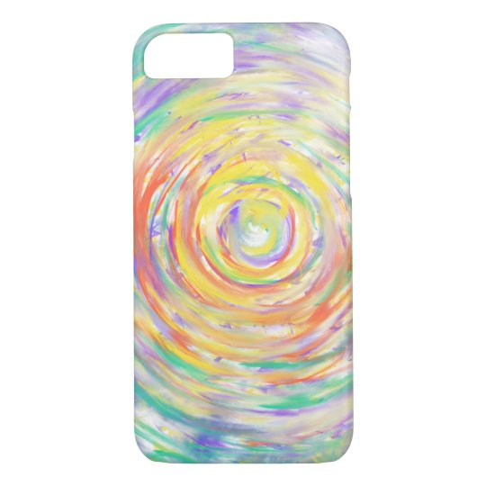 Colourful Watercolour Spiral Abstract Art Painting iPhone 7
