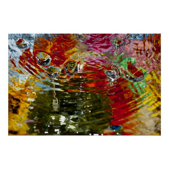 Colourful Waters Abstract Photography Poster
