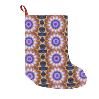 Colourful waves small christmas stocking