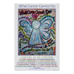Colourful What Cancer Cannot Do Angel Poster Print