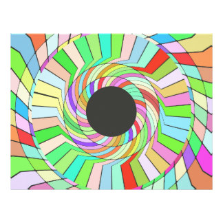 Colourful whirlpool abstract design 21.5 cm x 28 cm flyer