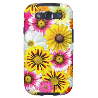 Colourful Wildflowers Print Cellphone Case Samsung Galaxy SIII Case