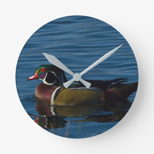 Colourful Wood Duck Wall Clock