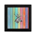 Colourful Wood Vintage Deer Head