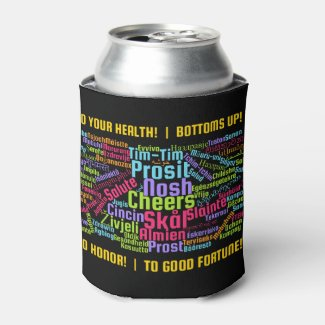 Colourful Word Art Cheers in Many Languages Can Cooler