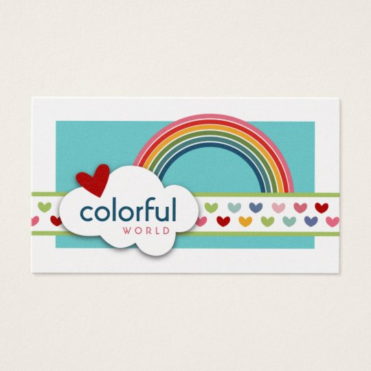 Colourful World Business Cards