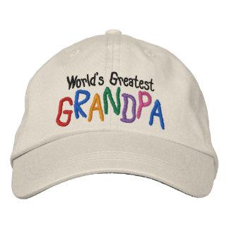 Colourful World's Greatest Grandpa Embroidered Baseball Caps
