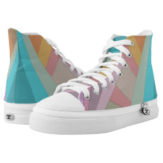 Colourful wrapped printed shoes