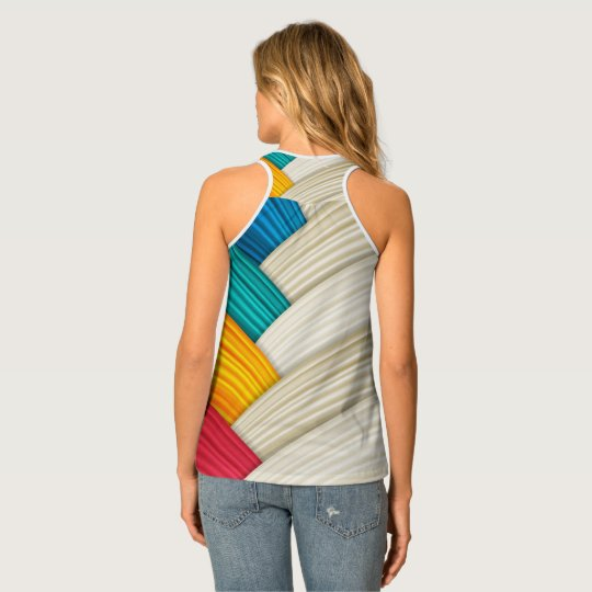 Colourful Wrapped Tank Top