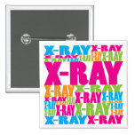 Colourful X-Ray Pinback Button