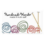 colourful yarn balls knitting needles business pack of standard business cards