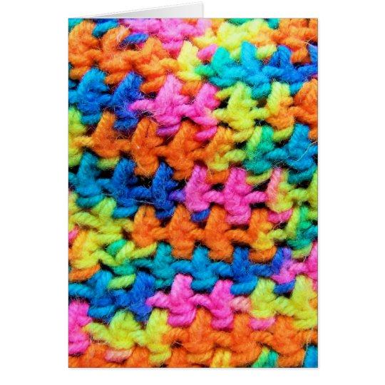 Colourful Yarn Card