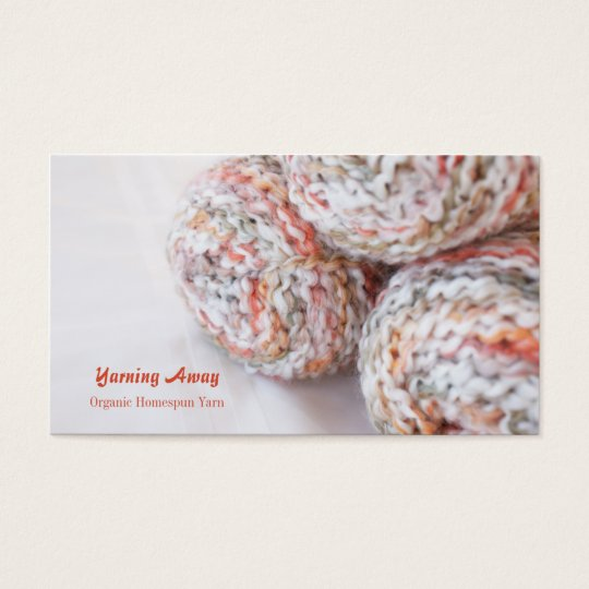 Colourful yarn photo customisable business cards
